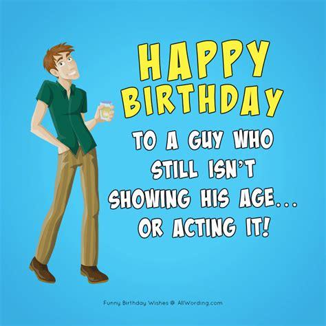 humorous birthday wishes  men