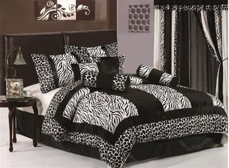 7 piece king size zebra comforter set safari bedding