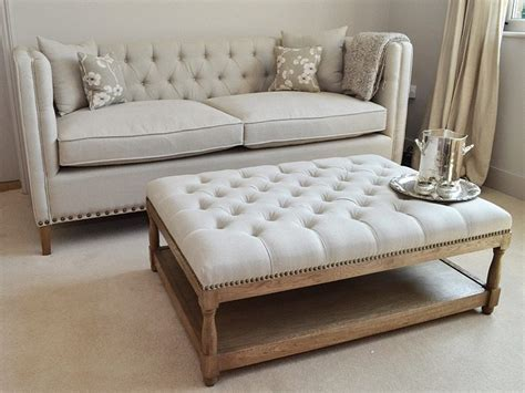 Large Cushioned Ottoman by Ottoman As Coffee Table Will Be The Decision For