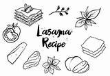 Lasagna Getdrawings Drawing sketch template