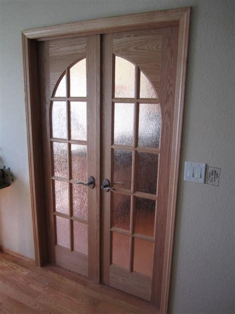 custom stain grade glass doors traditional interior