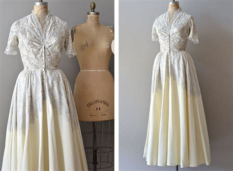 1940s Wedding Dress From Dear Golden