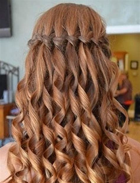 lovely waterfall plait step  step hairstyles