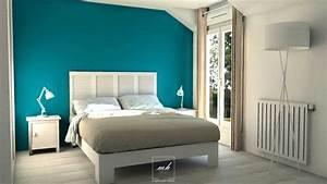 Déco Chambre Bleu Canard : tourdissant d co chambre bleu canard et chambre bleu ~ Melissatoandfro.com Idées de Décoration