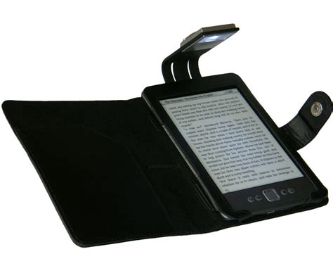 Kindle With Light by Black Cover And Light For New Kindle 4 With
