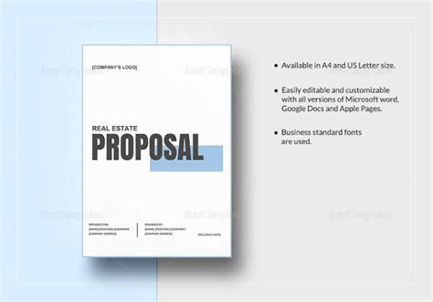 sample real estate proposal templates  google