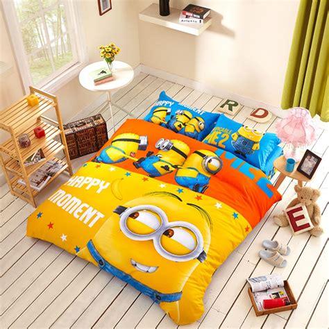 minion bedding set twin queen king size cartoon bedding