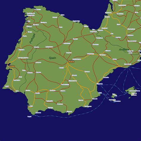 spain rail travel map european rail guide