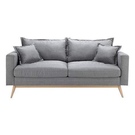canapé 3 places gris canapé 3 places en tissu gris clair duke maisons du monde
