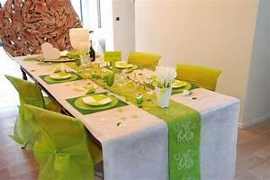 Deco Vert Anis : d coration de table mariage vert et blanc id es et d ~ Teatrodelosmanantiales.com Idées de Décoration