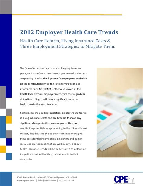 employer health care trends