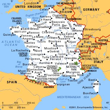 map france major cities  gif   scale