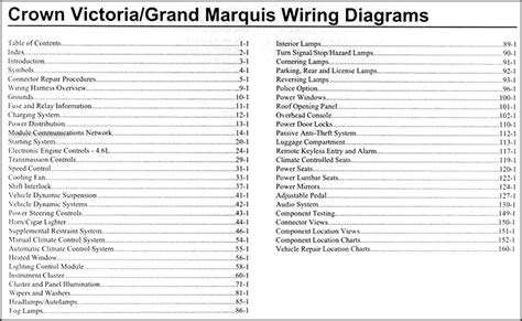 2009 crown grand marquis original wiring diagram