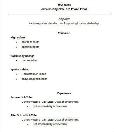 10 high graduate resume templates pdf doc