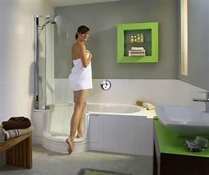 Baignoire Douche Dimension : les baignoires douches pratiques et esth tiques ~ Premium-room.com Idées de Décoration
