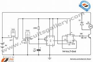 Remote Controlled Dc Motor For Toy Car Circuit Diagram In