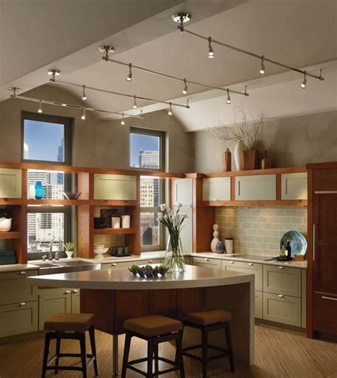 kitchen track lighting ideas  pinterest