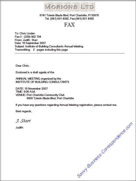 Fax Cover Letter Format by Business Fax Cover Sheet With Proper Formatting And Page