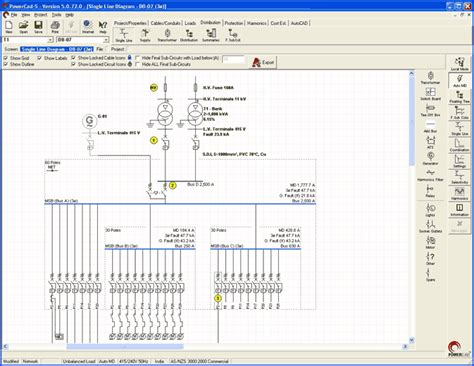 Single Line Diagram Autocad Lt by Powercad Electrical Engineering Design Software