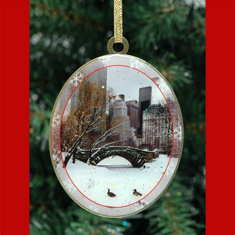 love bridge in central park new york christmas ornament
