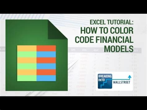 Excel Tutorial  How To Color Code Financial Models Youtube