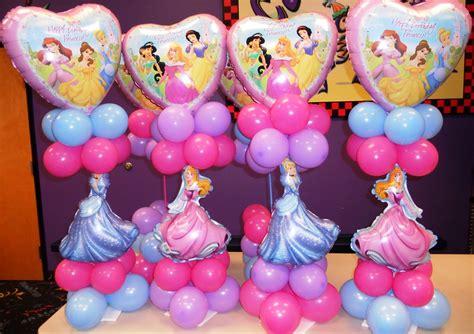princess party theme princess balloon columnsprincess