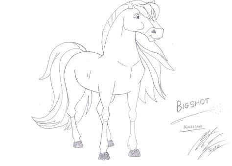 horseland  oc horse bigshot sketch  morteneng  deviantart