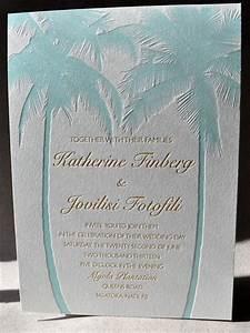 tropical destination wedding letterpress invitation With cricut beach wedding invitations