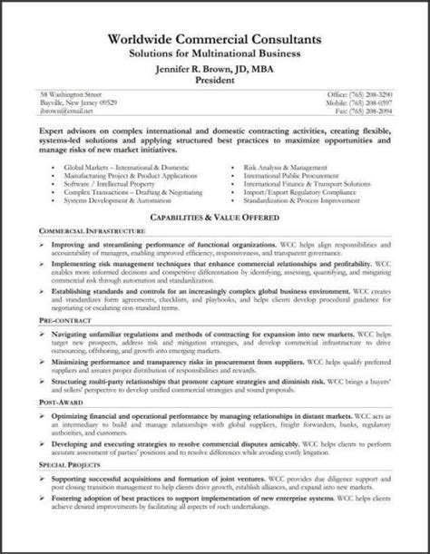 resume summary template resume professional summary project scope template