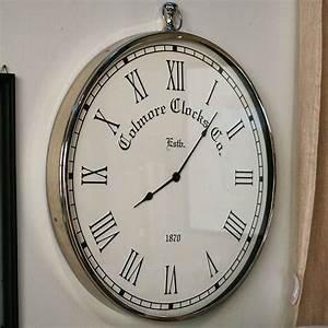 Horloge En Metal : horloge en m tal chrom blanc interior 39 s ~ Teatrodelosmanantiales.com Idées de Décoration