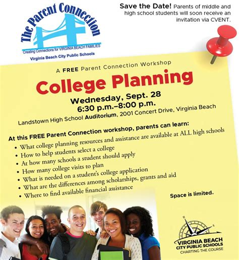 parent connection workshop features college planning