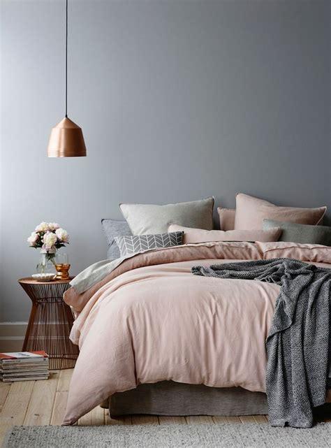 Bettwaesche Schlafzimmer Gestaltung by Die Besten 25 Rosa Graue Schlafzimmer Ideen Auf