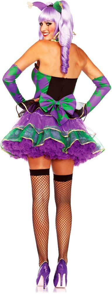 Sexy Party Girl Jester Fat Tuesday Dress Outfit Mardi Gras Costume Adult Women | eBay