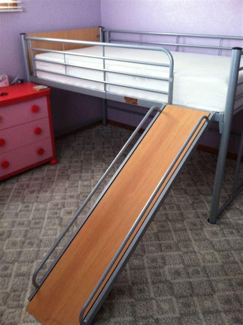 loft bed with slide memory foam mattress twin size ikea