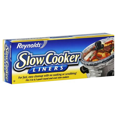 reynolds cooker slow liners bags food oven pans storage