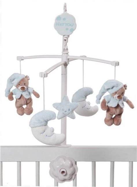 robe de chambre bébé fille nattou mobile musical bleu bibou doudouplanet