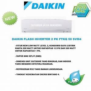 Jual Ac Daikin Flash Inverter 2 Pk Ftkq 50 Svm4 Di Lapak Sumber Jaya Mandiri Ac Sumberjayamandiriac