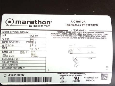 Marathon Electric Motor Wiring Diagram Fuse Box