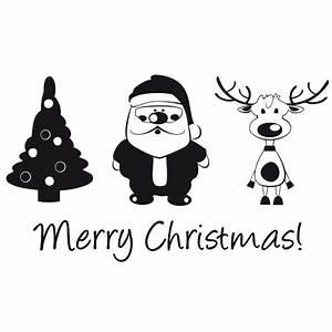 Weihnachtsmotive Schwarz Weiß : merry christmas wandtattoo ~ Buech-reservation.com Haus und Dekorationen