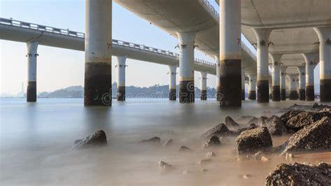 Xiamen Yanwu Bridge, China stock photo. Image of light ...