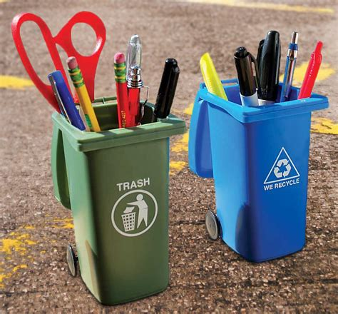 mini curbside trash  recycle  set noveltystreet