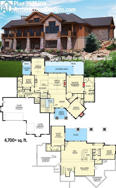 plan rw  bed mountain craftsman house plan