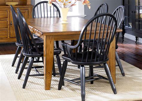 treasures dining room set  black chairs liberty