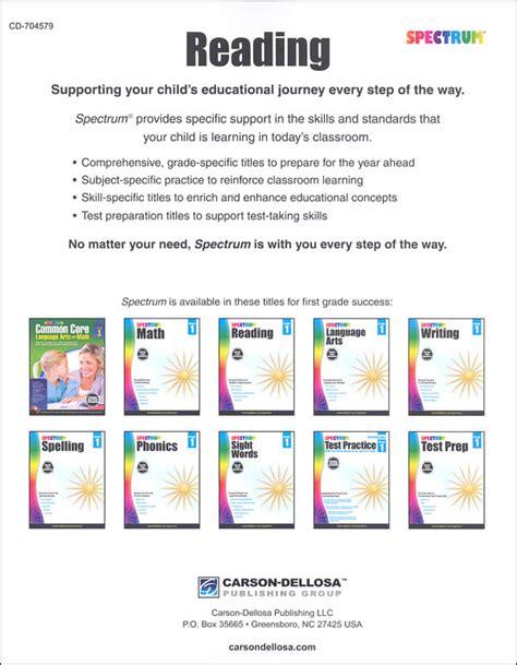 Spectrum Reading 2015 Grade 1 (001703) Details  Rainbow Resource Center, Inc