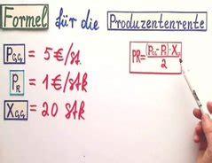 video produzentenrente formel und berechnung