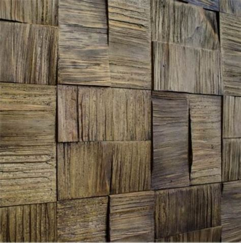 Decorative Wood Panels, Box, Lascado Castanho