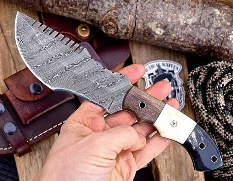 knife tracker survival handmade custom bushcraft sheath comes leather