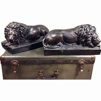 Canova Antonio Bronze Lion Sculptures Lions Rubylane