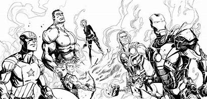 Marvel Avengers Outline Coloring Characters Comic Yahoo