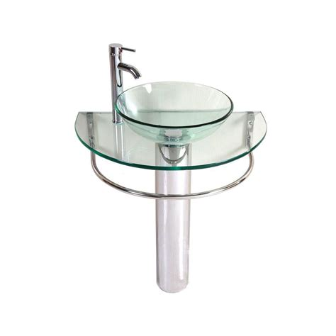 Pedestal Sink Wrench Home Depot by Kokols Kailash Pedestal Combo Bathroom Sink In Clear Wf 01